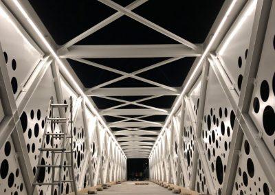 PASSERELLA CICLO PEDONALE BRESCIA DESIGN LIGHT CANNATA
